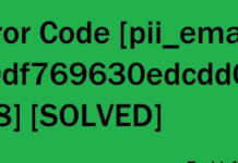 Error Code [pii_email_20df769630edcdd016f8] [SOLVED]
